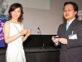 『第7回 東宝シンデレラオーディション』開催発表会見に出席した、 第2回審査員特別賞の水野真紀 (C)ORICON DD inc.