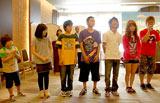 フジテレビ系昼ドラマ『明日の光をつかめ』の制作発表会見に出席した子役たち