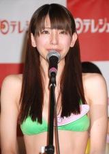 『日テレジェニック2010』に選ばれ、涙ながらに意気込みを語った伊藤れいこ (C)ORICON DD inc.