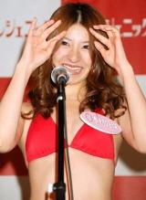 『日テレジェニック2010』に選ばれ、涙ながらに意気込みを語った木村好珠 (C)ORICON DD inc.