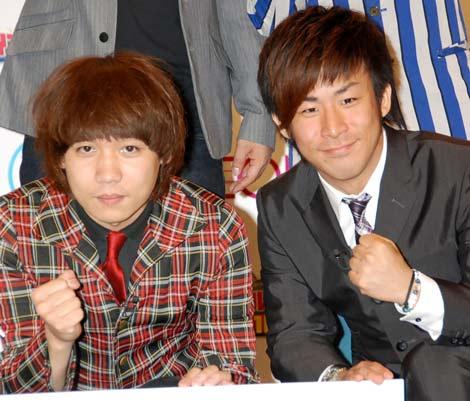 漫才コンテスト『ハイスクールマンザイ2010』開催発表会見に出席したチーモンチョーチュウ (C)ORICON DD inc.