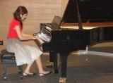 『live image Noubeau(ライブ・イマージュ・ヌーヴォー)』公演発表会見でピアノの生演奏を披露した松下奈緒 (C)ORICON DD inc.