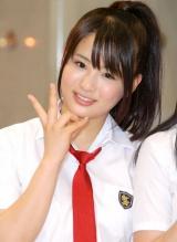 渡り廊下走り隊の5thシングル「青春のフラッグ」発売記念イベントを行った平嶋夏海 (C)ORICON DD inc.