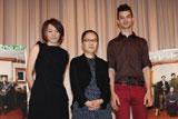 舞台あいさつに登壇した(左から)荻上直子監督、もたいまさこ、デイヴィッド・レンドル