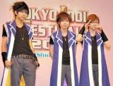 史上初のアイドルフェス『TOKYO IDOL FESTIVAL 2010』制作記者発表会見に出席した腐男塾のメンバー (C)ORICON DD inc.