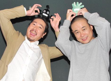 インタビューに応じた(左から)笑い飯・西田幸治、バッファロー吾郎・木村明浩 (C)ORICON DD inc.