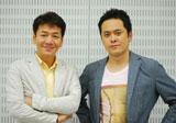 インタビューに応じたくりぃむしちゅー(左から上田晋也、有田哲平)