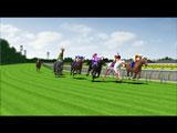 コーナーを見事に駆け抜けていく競走馬たち/『CINEMA KEIBA/JAPAN WORLD CUP』