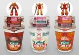 日清食品が8月2日より数量限定で発売する『カップヌードル シャア専用チリトマトヌードル』シリーズ3品