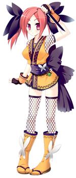おぎん(CV:近藤佳奈子)/水戸出身・年齢不詳。お酒の妖精の一人。いつも「くの一」の格好をしている。実は忍者なのではと言う噂も?(C)たぢまよしかづ/飛夢