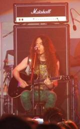 『お台場合衆国 2010 開国前夜祭』で初ライブを行ったロックバンド・FANTAのFriedman (C)ORICON DD inc.