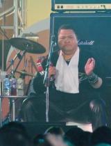 『お台場合衆国 2010 開国前夜祭』で初ライブを行ったロックバンド・FANTAのAkebono (C)ORICON DD inc.