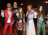 初ライブ『めざまし Fantastic プレライブ』の出演へ向けスタジオで練習を行ったFANTAのメンバー ※(左から)Ayanocozey、Akebono、Nana、Takamiy、Friedman