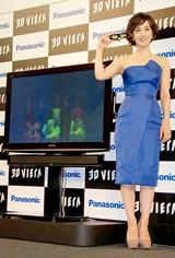 薄型テレビ『VIERA』の宣伝キャラクターに就任した滝川クリステル (C)ORICON DD inc.