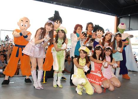 アニメ『ドラゴンボール改』のステージイベントに参加したチームドラゴン from AKB48 (C)ORICON DD inc.