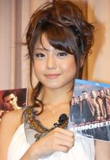 映画『アーマード武装地帯』のBD&DVD発売イベントに参加した中村静香 (C)ORICON DD inc.