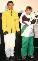 映画『フローズン』のトークショーイベントに参加した(左から)八代英輝氏、デーブ・スペクター (C)ORICON DD inc.