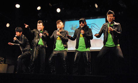 エンターテインメントライブスペース『表参道GROUND』で行われたオープニングイベントに出席した超新塾 (C)ORICON DD inc.