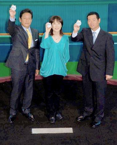 『熱闘甲子園30th展』のオープニングイベントに出席した(左から)栗山英樹氏、長島三奈、桑田真澄氏 (C)ORICON DD inc.