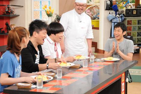 大阪・関西テレビ『雨上がり食楽部』に出演した織田信成選手(右)
