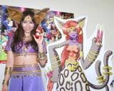 アニメ番組『デジモン クロスウォーズ』のアフレコ会見にセクシーヘソ出しルックで登場したAKB48の河西智美 (C)ORICON DD inc.