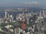 『2つのタワー』篇に登場する東京タワー/『ボス レインボーマウンテンブレンド』(サントリー)新CM