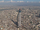 東京スカイツリーも負けじと聳え立つ
