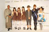 イベント『COSU MODE POWER 2010』に参加した(左から)ダンテ・カーヴァー、AKB48の北原里英、河西智美、指原莉乃、テリー伊藤、はるな愛、吉田沙保里(C)ORICON DD inc
