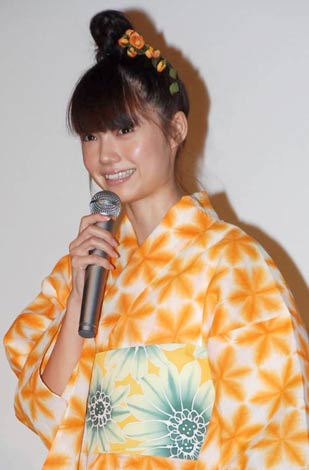 映画『カラフル』の初日舞台あいさつに出席した宮崎あおい (C)ORICON DD inc.
