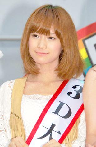 BS-TBSの3D放送記者会見に出席したモーニング娘。の亀井絵里 (C)ORICON DD inc.