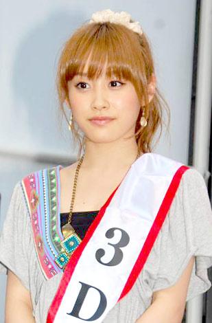 BS-TBSの3D放送記者会見に出席したモーニング娘。の高橋愛 (C)ORICON DD inc.