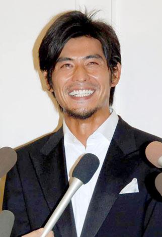 ILMARI&蛯原友里の結婚披露パーティーに出席した坂口憲二(C)ORICON DD inc.
