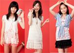 (左から)準グランプリの石塚恵美さん(16)、酒井結加さん(17)、堀詩音さん(14)