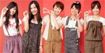 さくぱんガールズの三村友美さん(14)、出水のあさん(16)、野原みのりさん(18)、村上聖奈さん(17)、太田葉子さん(20)