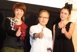 満員の観客に迎えられた映画『トイレット』の初日舞台あいさつで荻上直子監督、もたいまさこ、タチアナ・まずラニーがそろって「Cool!!」 (C)ORICON DD inc.