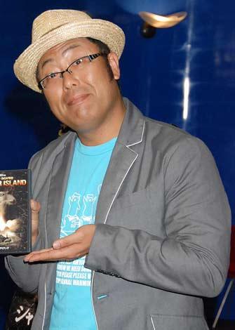 """映画『シャッター アイランド』のDVD&Blu-ray宣伝部""""謎かけ""""部長就任式に出席したWコロン・木曽さんちゅう (C)ORICON DD inc."""