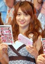 AKB48初のゲーム『AKB1/48 アイドルと恋したら…』の制作発表会に出席した大島優子 (C)ORICON DD inc.