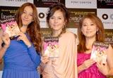 海外ドラマ『リップスティック・ジャングル』のDVD発売記念トークショーを行った(左から)道端カレン、杉本彩、友近