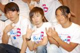 ダンスイベント「UNITED Vol.3〜RISING DANCE FESTIVAL〜」に出演したw-inds.(左から橘慶太、千葉涼平、緒方龍一) (C)ORICON DD inc.