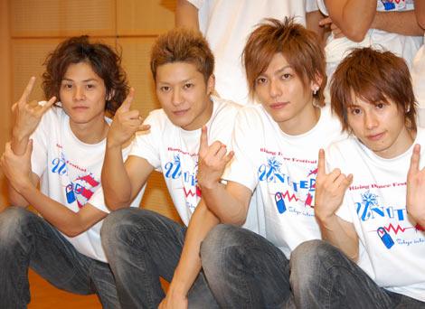 ダンスイベント「UNITED Vol.3〜RISING DANCE FESTIVAL〜」に出演したw-inds.(左からKEITA、SHINYA、AKIRA、HIROKI) (C)ORICON DD inc.