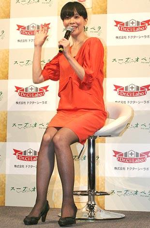主演映画『スープ・オペラ』の試写会舞台あいさつに出席した坂井真紀 (C)ORICON DD inc.