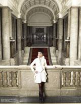 国会議事堂で撮影された蓮舫議員のショット