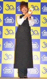 ミニストップの『30周年記念コーヒー無料キャンペーン』発表会に出席した優木まおみ (C)ORICON DD inc.