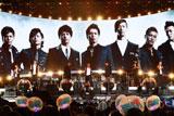 """""""三代目""""J Soul Brothers(バックモニター左から)岩田剛典、NAOTO、今市隆二、登坂広臣、NAOKI、ELLY、山下健二郎"""