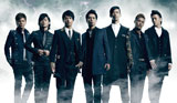 """三代目""J Soul Brothers(左から)岩田剛典、NAOTO、今市隆二、登坂広臣、NAOKI、ELLY、山下健二郎"