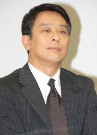 ドラマ『刑事定年』(BS朝日)の制作発表会見に出席した金田明夫 (C)ORICON DD inc.