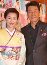 『五木ひろし特別公演』の公開リハーサルを行った(左から)長山洋子、五木ひろし (C)ORICON DD inc.