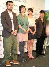 (左から)竹原ピストル、南果歩、谷村美月、熊切和嘉監督 (C)ORICON DD inc.