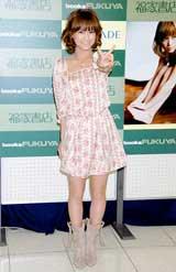 写真集『えりりん』発売記念イベントを行ったモーニング娘。の亀井絵里