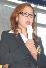 『フィギュアスケートグランプリシリーズ・ファイナル2010』記者会見に出席した村主章枝選手 (C)ORICON DD inc.